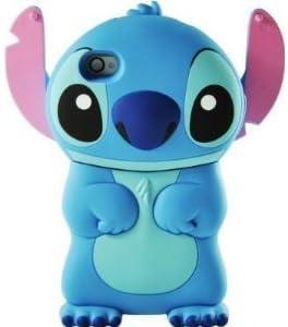 ZIMA® Coque Housse Etui en Silicone pour Iphone 4 / 4S - Lilo & Stitch - Bleu