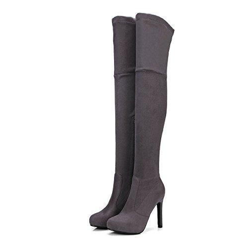 Las Zapatos Stiletto Botas Mujeres DYF Tal Rodilla n8Sgw0qqF