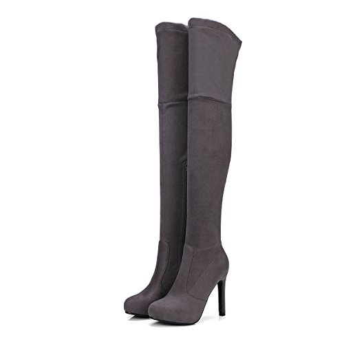 Las Botas Zapatos Tal DYF Mujeres Rodilla Stiletto 1q0n6x