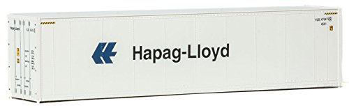 (Walthers HO Scale 40' Hi-Cube Smooth-Side Reefer Shipping Container Hapag-Lloyd)