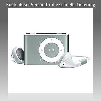 Metal plateado Mini-clip reproductor de MP3 (Soporte tarjeta micro SD de 8 GB)