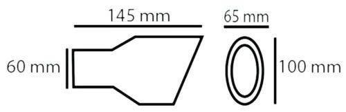 Autohobby 427A Auspuffblende Auspuff Universal Schalldampf Endrohr Edelstahl bis 55mm /Ø A B C G D H J CC 3 4 5 6 7 Chrom