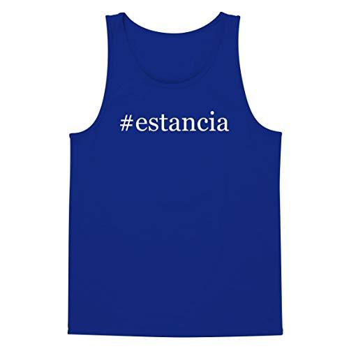 The Town Butler #Estancia - A Soft & Comfortable Hashtag Men's Tank Top, Blue, X-Large