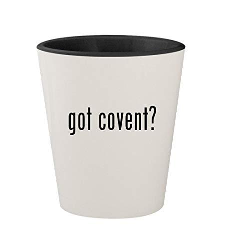got covent? - Ceramic White Outer & Black Inner 1.5oz Shot Glass