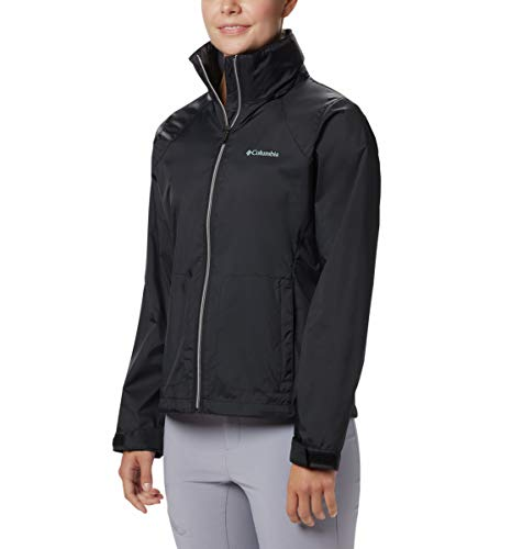 Columbia Women's Switchback III Adjustable Waterproof Rain Jacket, Black, Medium - Lightweight Waterproof Jackets