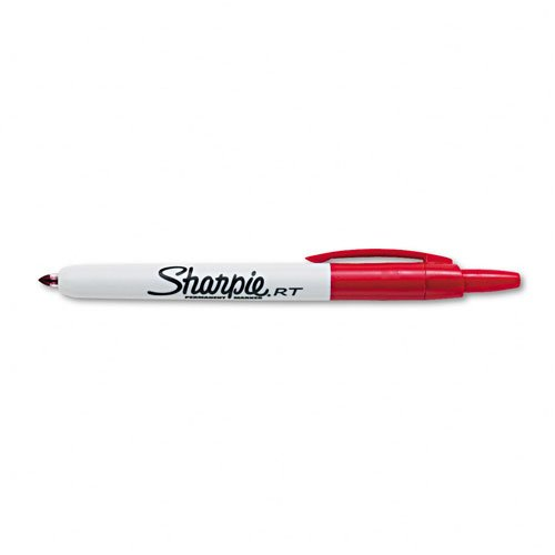 Sharpie : Retractable Permanent Marker, Fine Point, Red -:- Sold as 2 Packs of - 1 - / - Total of 2 Each