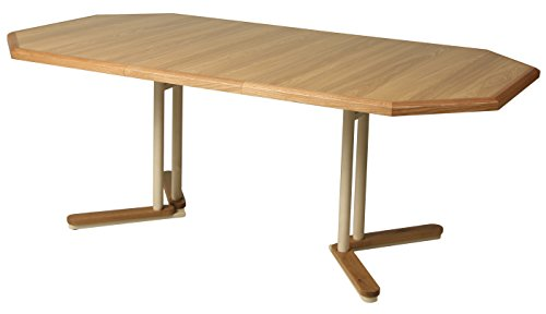 Impacterra QLTK540254752323 Tohoku Extendable Dining Table, Octagon (Table Round Extendable 42 Dining)