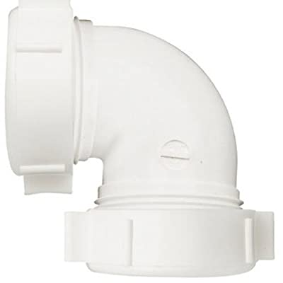 Keeney 47WK 90 Degree 1-1/2-Inch or 1-1/4-Inch by 1-1/2-Inch Coupling Elbow, White