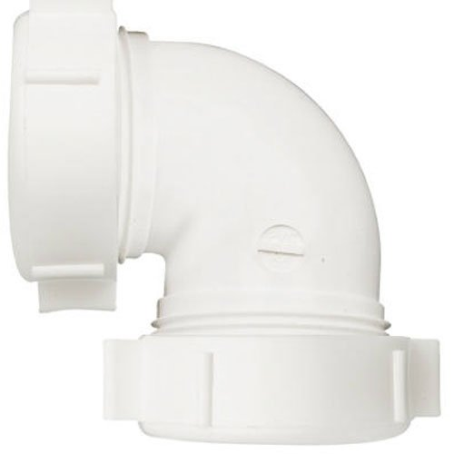 Keeney 47WK 90 Degree 1-1/2-Inch or 1-1/4-Inch by 1-1/2-Inch Coupling Elbow, White (Coupling Slip Joint)