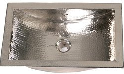 Attractive Nantucket Sinks Solid Brass Decorative Bar Sink, Trough Shaped With  Hammered Nickel Finish