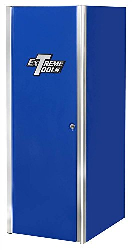 Extreme Tools EX2404SCBL 4-Drawer 2-Shelf Side Cabinet with Ball Bearing Slides, 24-Inch, Blue High Gloss Powder Coat Finish (Ball Blue Bearing)