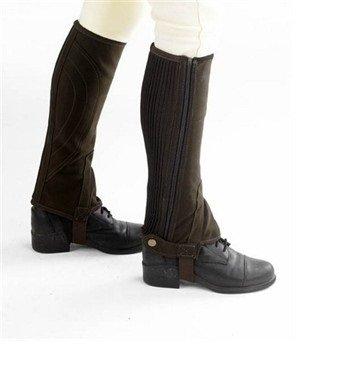 William Hunter Equestrian Hy Clarino - Ghette da equitazione a mezza gamba, da adulto, varie misure e colori, nero (nero), L