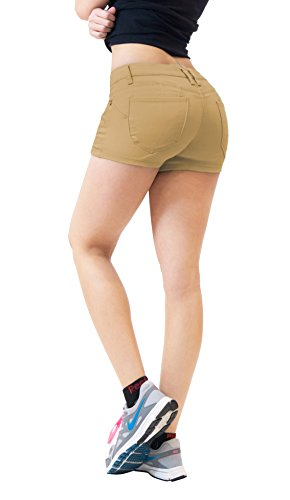 HyBrid & Company Womens Butt Lifting Twill Denim Shorts SH43308X Beige/Khak - Croft Lara Costume