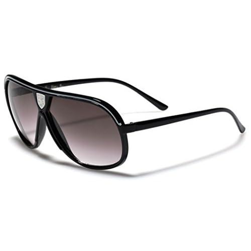 Khan Men s Women s Flat Top Aviator Retro 80s Vintage Fashion Designer  Sunglasses outlet 61d65f70e