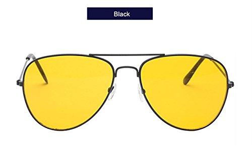 verano Gafas para polarizadas Gafas hombre de de sol WeiMay moda y Classic Black1 black de mujer Gafas Aviator de sol qOgxI
