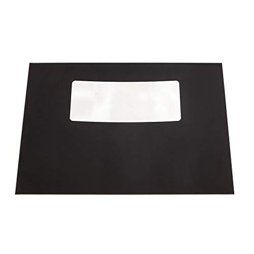 316427004 Range Oven Door Outer Panel (Black) Genuine Original Equipment Manufacturer (OEM) Part Black