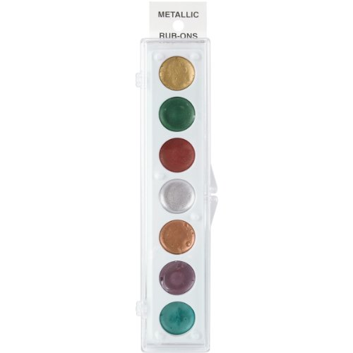 Craf-T Products 32942 Kit Number 1 Metallic Rub-On 7 Colors Paint Set ()