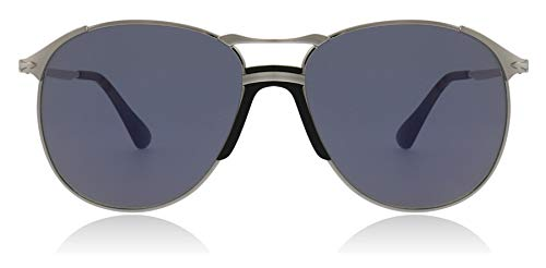 (Persol Men's 0PO2649S Silver/Light Blue One Size)