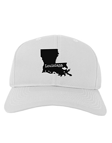 - TooLoud Louisiana - United States Shape Adult Baseball Cap Hat - White