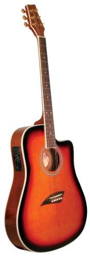 Kona K2SB Acoustic Electric Dreadnought Cutaway Guitar in Tobacco Sunburst Finish