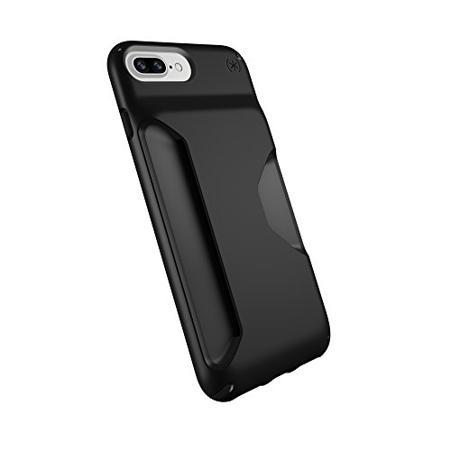 Speck Products Presidio Wallet Case for iPhone 8 Plus (Also fits 7 Plus and 6S/6 Plus), Black/Black