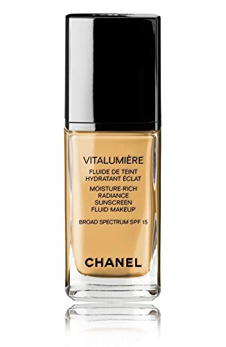 VITALUMIÈRE Moisture-Rich Radiance Sunscreen Fluid Makeup Broad Spectrum SPF 15 Color: 50 Naturel