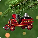 2001 Toledo Fire Engine Miniature Kiddie Car Classics Miniature Hallmark Ornament