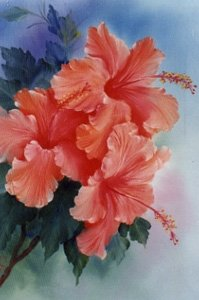 How-to Painting Packet Hibiscus Cluster