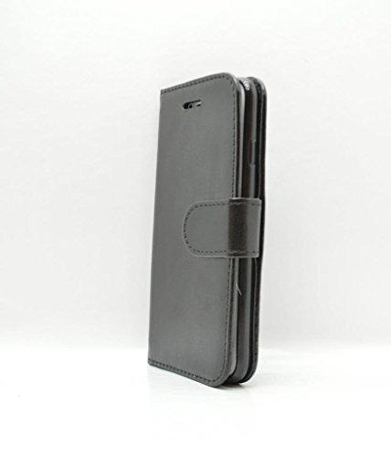 iPhone 7in case–Porta carte di custodia in pelle sintetica nera con proteggi schermo in vetro temperato–Oliviasphones per telefono