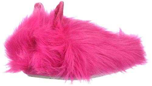 Hot Pink Fuzzy Slippers (Steve Madden Girls' JBUNIEV Slipper, Hot Pink, Small M US Little)
