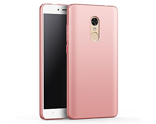 EIISSION Funda Compatible con Xiaomi Redmi Note 4X Funda,Carcasa ToughShell Funda táctil Funda Mate Funda Duro y Flexible Carcasa (Oro Rosa)