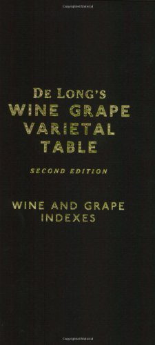 De Long's Wine Grape Varietal Table by Deborah De Long, Steve De Long