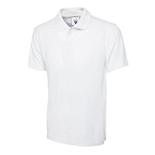 Uneek UC105weiß–XXXL Weiß Polo Shirt