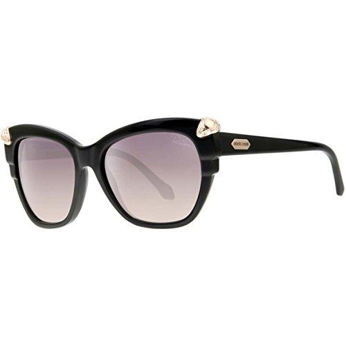 Roberto Cavalli Mesarthim lunettes de soleil en noir brillant RC907S 01B 55 01B: Shiny Black