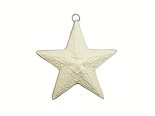 Ornate Victorian Star Christmas Ornament - Ready to Paint Ceramic Bisque - Hand Poured in The USA