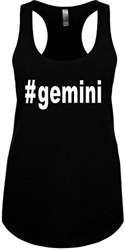 Junior's Funny Tank Top Size XL (#Gemini (Hashtag Tee Shirt) Ladies Shirt - Gemini Womens Top