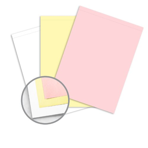 NCR Paper* Brand Superior Perf Multi-Colored Carbonless Paper - 8 1/2 x 11 1/2 in 21 lb Writing Precollated 3-Part RS Pink, Canary, White Perforated on Top 501 per Package
