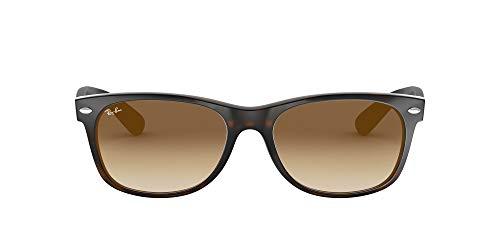 Ray-Ban RB2132 New Wayfarer Sunglasses, Light Havana/Brown Gradient, 58 mm