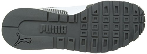 Puma ST Runner Shades - zapatilla deportiva de piel unisex gris - Grau (dark shadow-white-gray violet 01)