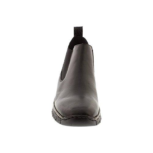 Rieker 53794 Womens Ankle Boots With Granite Heel Panel Black/ Granite