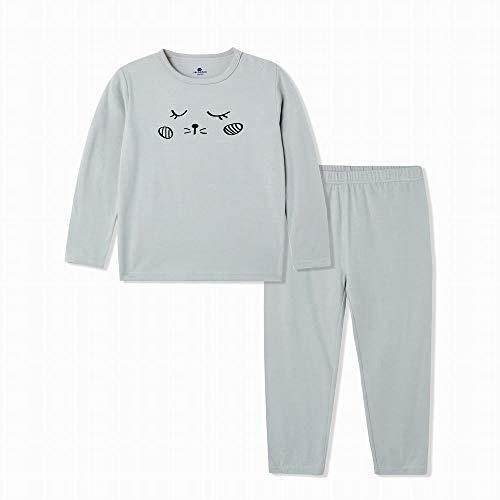 Minibalabala Baby Pure Cotton Long Sleeve Children Thermal Underwear (Grey, 3T) by Mini Balabala