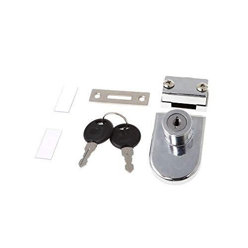 (Hot Showcase Display Cabinet Glass Double Door Lock Replacement with 2 Keys -831F )