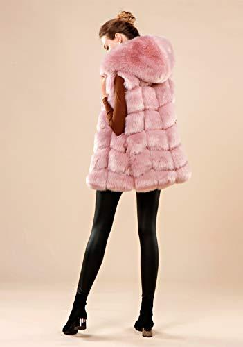 Folobe ' Adulto Soft Chaleco Chaqueta Womens Faux Blush 48qpzgo wInqBRAP