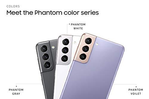 Samsung Galaxy S21 5G (Phantom Gray, 8GB, 128GB Storage) with No Cost EMI/Additional Exchange Offers 2021 August Triple rear camera setup- Main Camera 12MP Dual Pixel + Ultra Wide 12MP Camera + Tele1 3X 64MP Camera | 10MP front Dual Pixel Camera (6.2-inch) Dynamic AMOLED 2X Display, FHD+ resolution with 2400 X 1080 pixels resolution, 421 PPI with 16M colours 8GB RAM | 128GB internal Storage | Dual SIM (nano+nano) dual-standby (5G+5G)