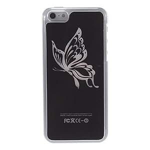 CL - Modelo de mariposa duro caso Relámpago Flash para iPhone 5C