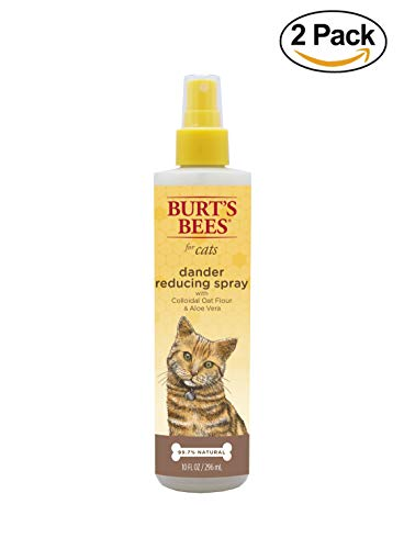 Burt's Bees for Cats Natural Dander Reducing Spray with Colloidal Oat Flour & Aloe Vera | Cat Spray, 10 oz- 2 Pack