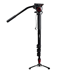 miliboo MTT705A Portable Aluminum Monopod 4 Sections for Camera Stand,184.5 Max Height,Load 10 Kilogram,Half Price of Manfrotto in Good Quality