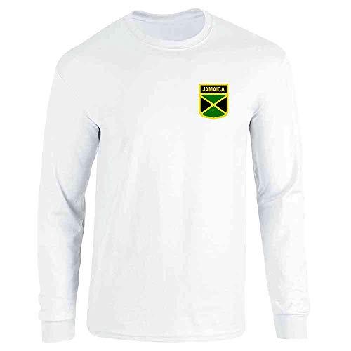 Jamaica Soccer Retro National Team White XL Long Sleeve T-Shirt