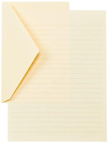 Crane & Co. Ruled Ecruwhite Half Sheets (CH3386)