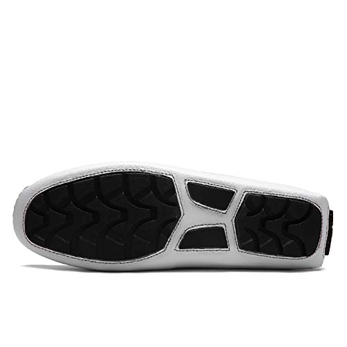 Casuales Hombres Guisantes White Planos Yuan Mocasines Para Transpirables driving aEwxZHq6x